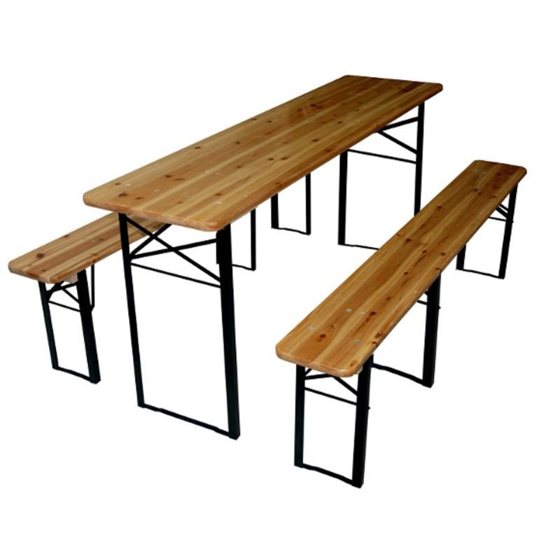 Záhradná zostava stôl + 2 lavice