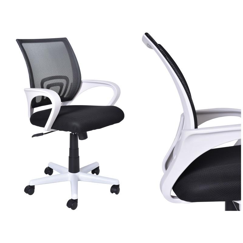 Kancelárske kreslo Bianco - bielo-čierne