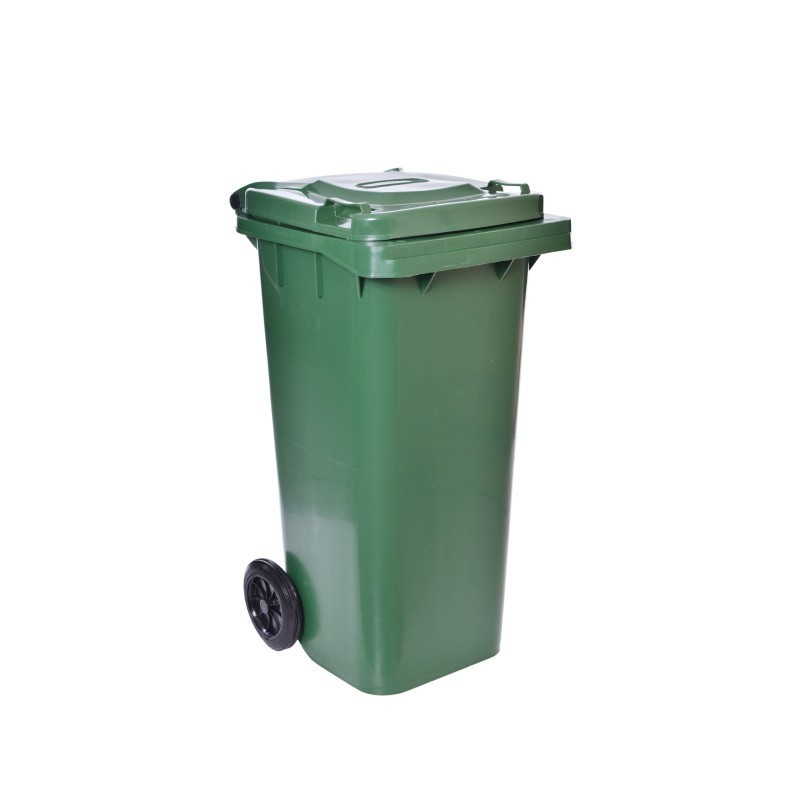 Smetiak na odpady 120 L - zelený