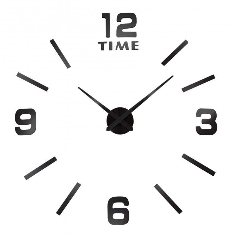 Nástenné hodiny Diy BAST 3D - čierne