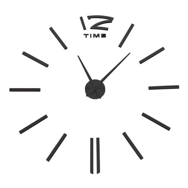 Nástenné hodiny Diy Apis 65 - 120 cm - čierne 3D