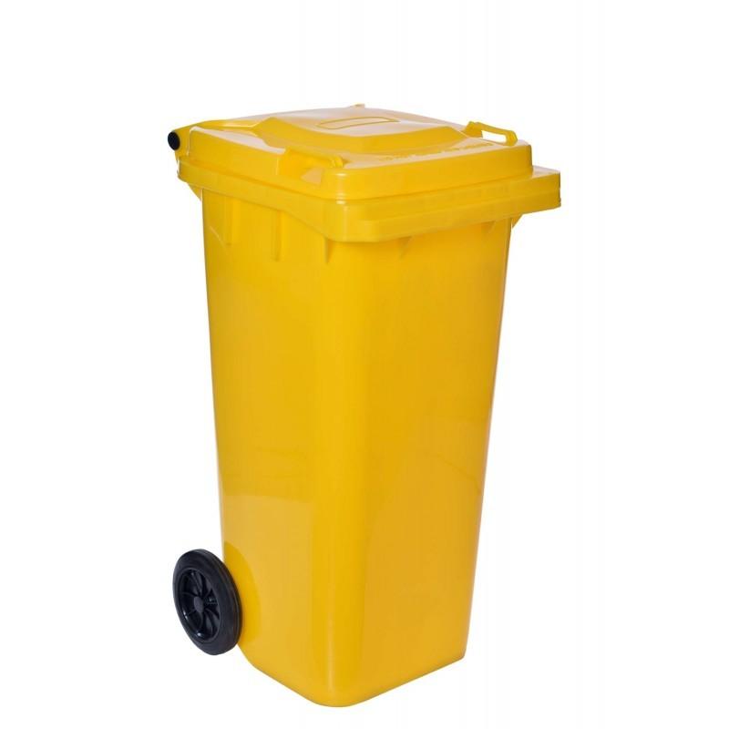 Smetiak na odpad 120 L - žltý