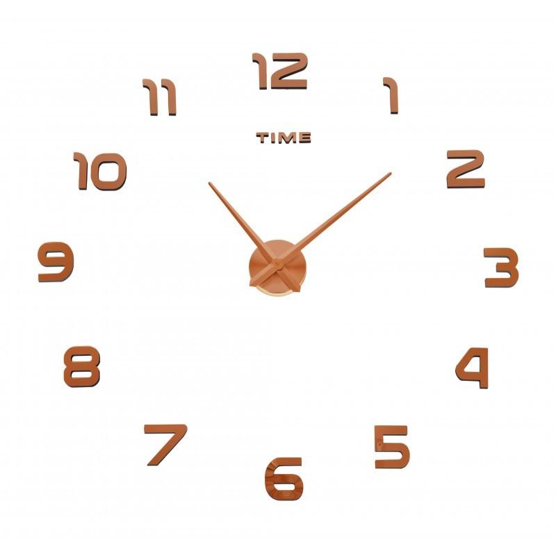 Nástenné hodiny DIY NEPRI 65 - 130 cm - medené 3D