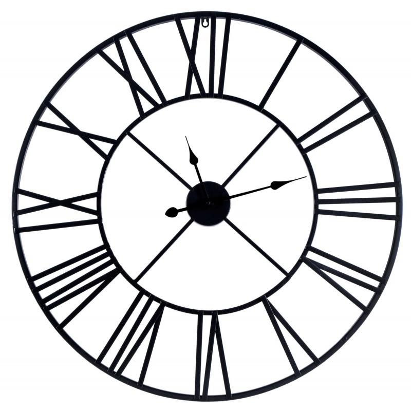 Nástenné hodiny ITALY 80 cm čierne