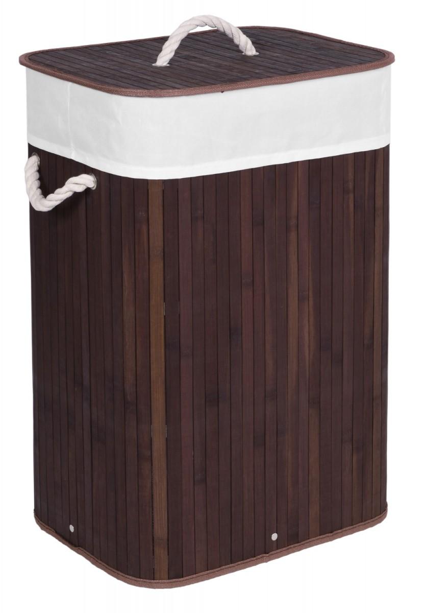 Koš na prádlo RONDA tmavě hnědý
