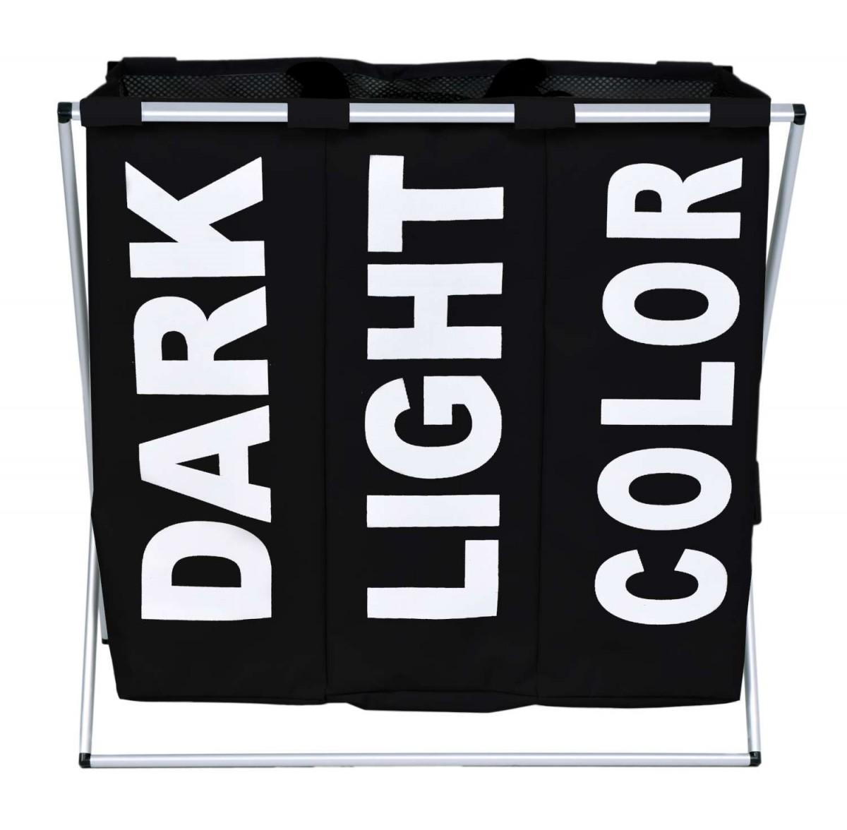Koš na prádlo TRIKO 130L - černý