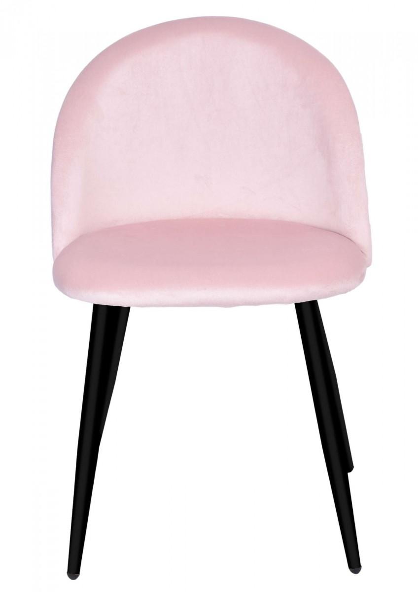 Židle SOUL VELVET růžová