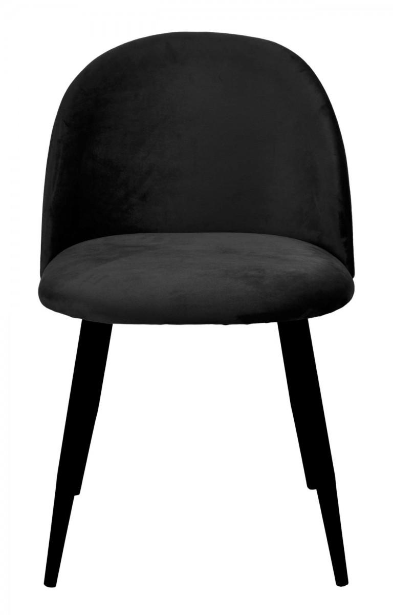 Jídelní židle SOUL VELVET černá