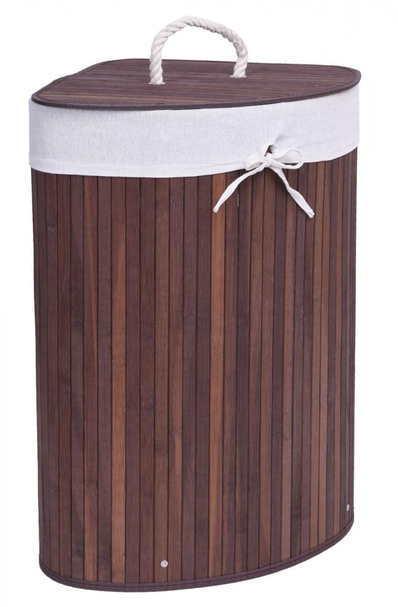 Bambusový koš na prádlo 60 L dub wenge