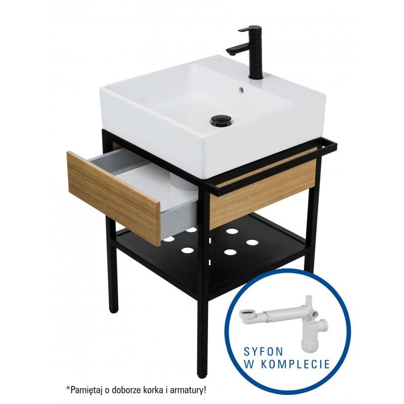 Koupelnová skříňka s umyvadlem Deante TEMISTO 50 x 50 cm + sifon