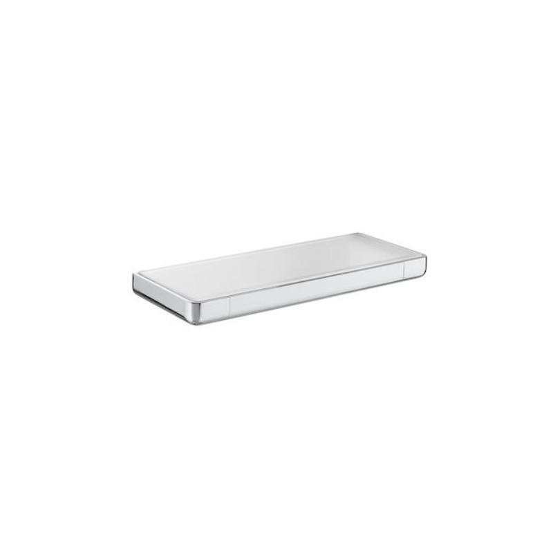 Koupelnová police ROCA TEMPO 30 cm kov/sklo