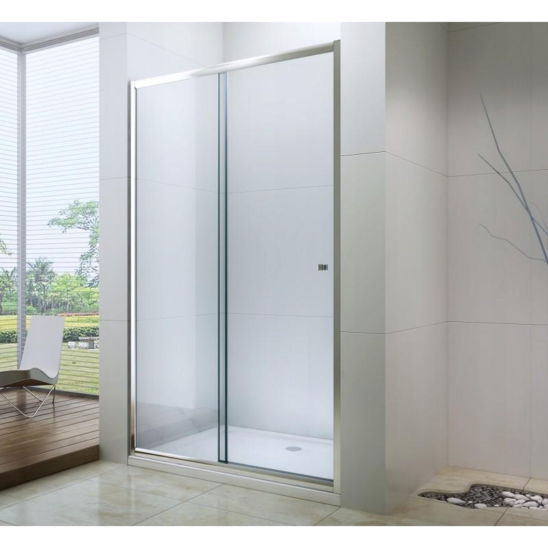 Sprchové dveře MEXEN Apia Z 125 cm stříbrné