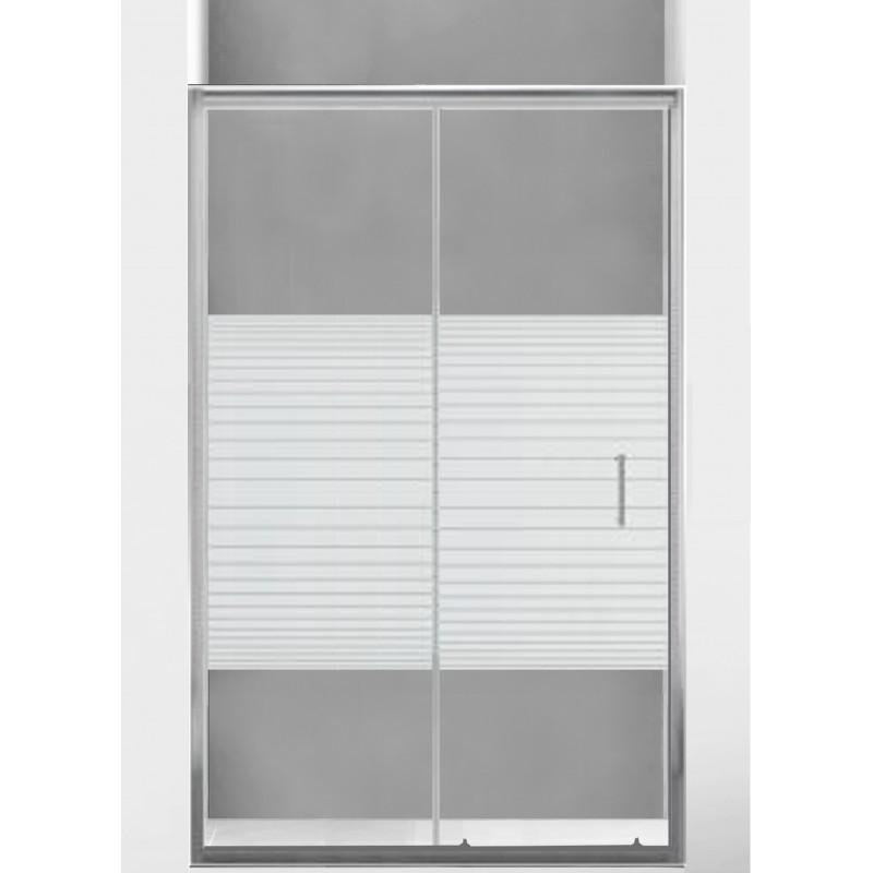 Sprchové dveře MEXEN Apia 140cm stříbrný