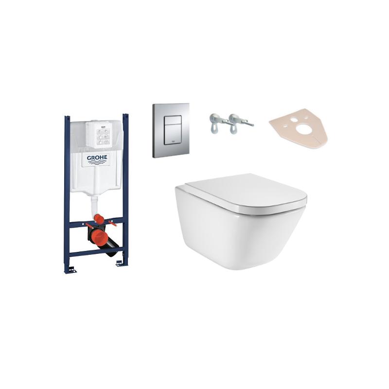 Súprava podomietkový modul 4 v 1 + závesná WC misa RIMLESS MAXICLEAN + doštička