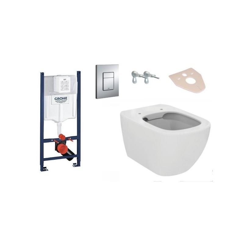 Súprava podomietkový modul GROHE 4 v 1 + závesná WC misa TESI + doštička AVA
