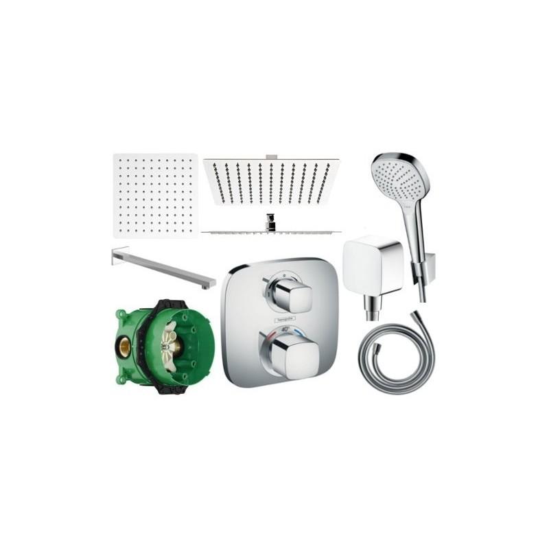 Sprchový set podomítkový HANSGROHE TERMOSTAT - 30 CM (mix výrobců)
