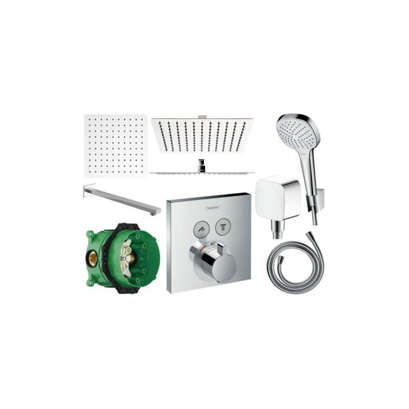 Sprchový set podomítkový HANSGROHE TERMOSTAT 40x40 CM