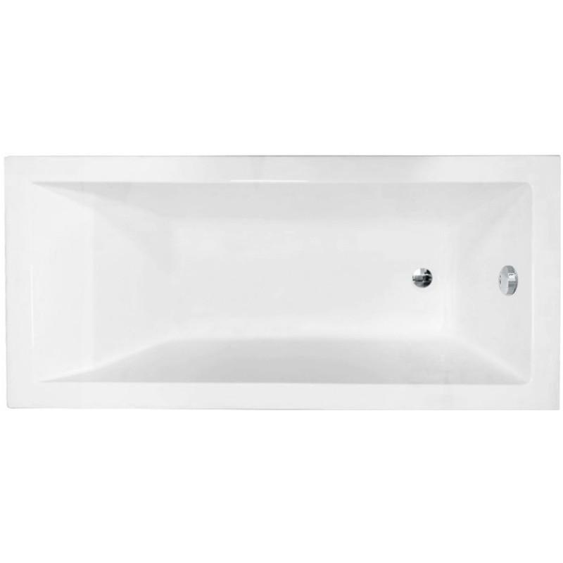 Akrylátová vaňa Mexen CUBIK 150 × 70 cm biela + automatický odtok