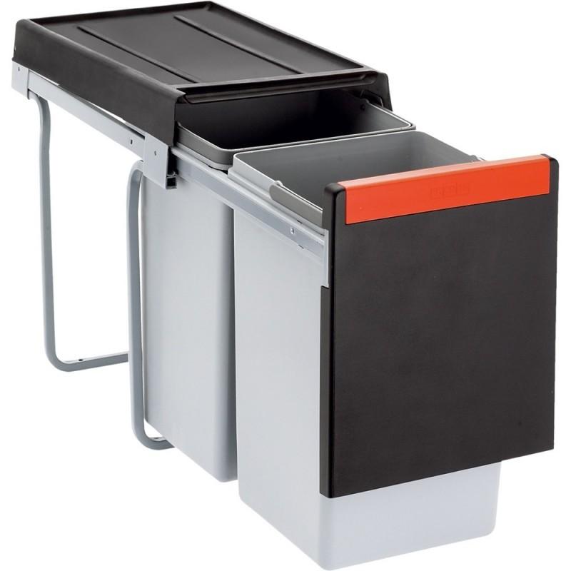 Odpadkový koš Franke CUBE 30 šedo-oranžový
