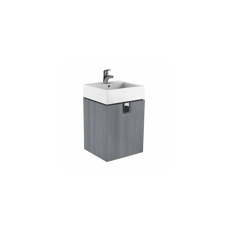 Skříňka pod umyvadlo KOŁO TWINS - stříbrný grafit