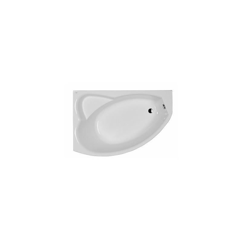 Asymetrická vaňa KOLO AGAT 150x100 cm - biela, ľavá