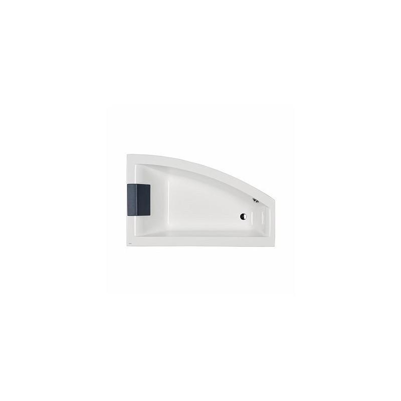 Asymetrická vaňa KOLO CLARISSA 160x100 cm - biela, pravá
