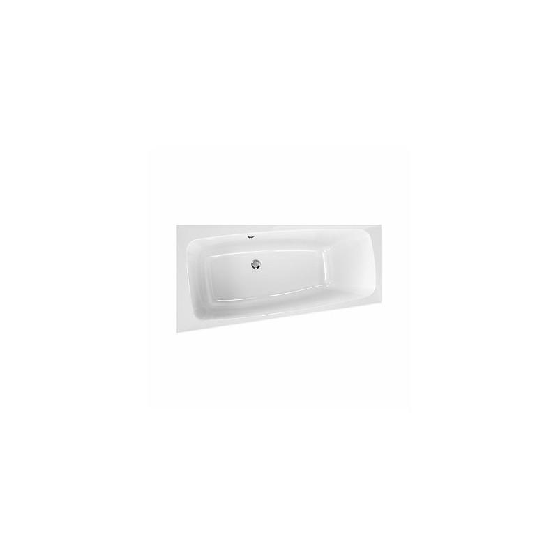 Asymetrická vaňa KOLO SPLIT 160x90 cm - biela, ľavá