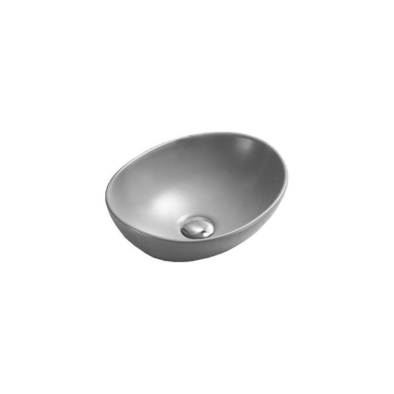 Keramické umývadlo na dosku Mexen ELZA 40 × 34 cm sivé