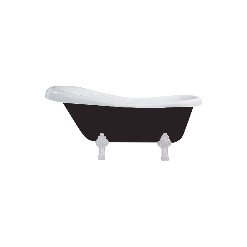 Vaňa MEXEN RETRO 170 × 75 čierno-biela
