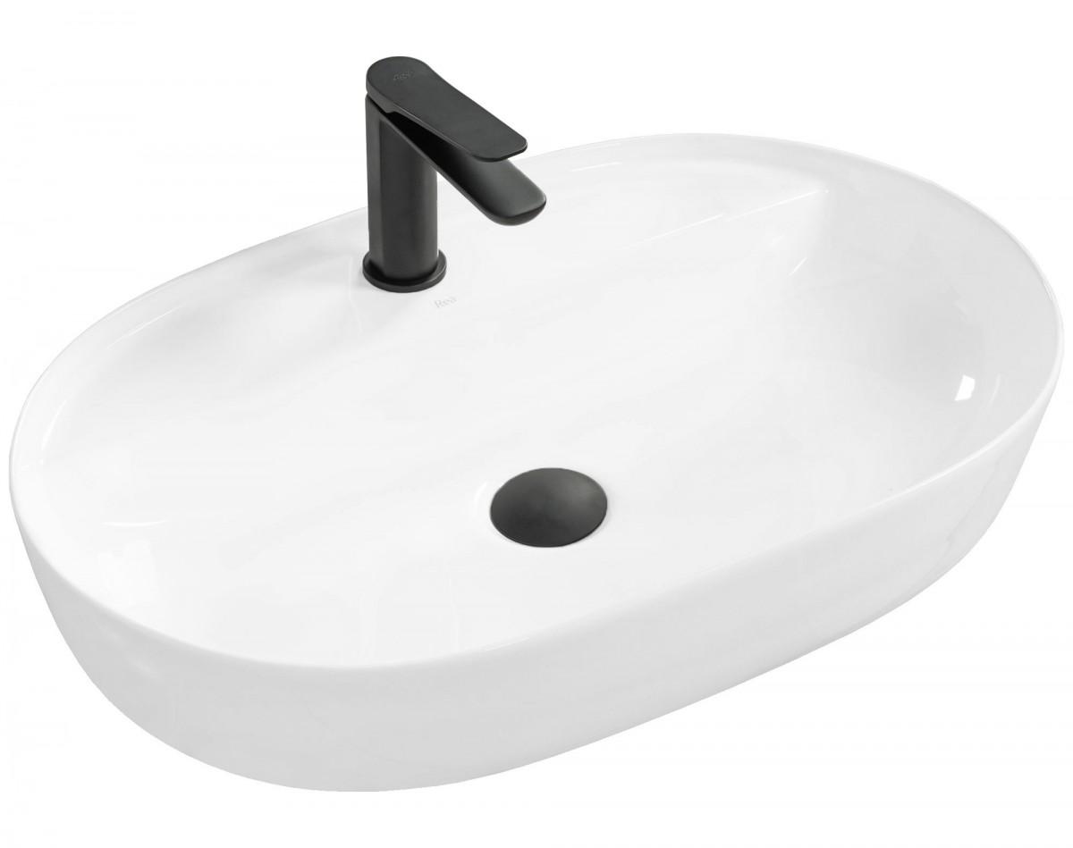Umývadlo na dosku REA Aura - biele