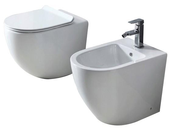 Sestava WC mísa + bidet CARLO bílá