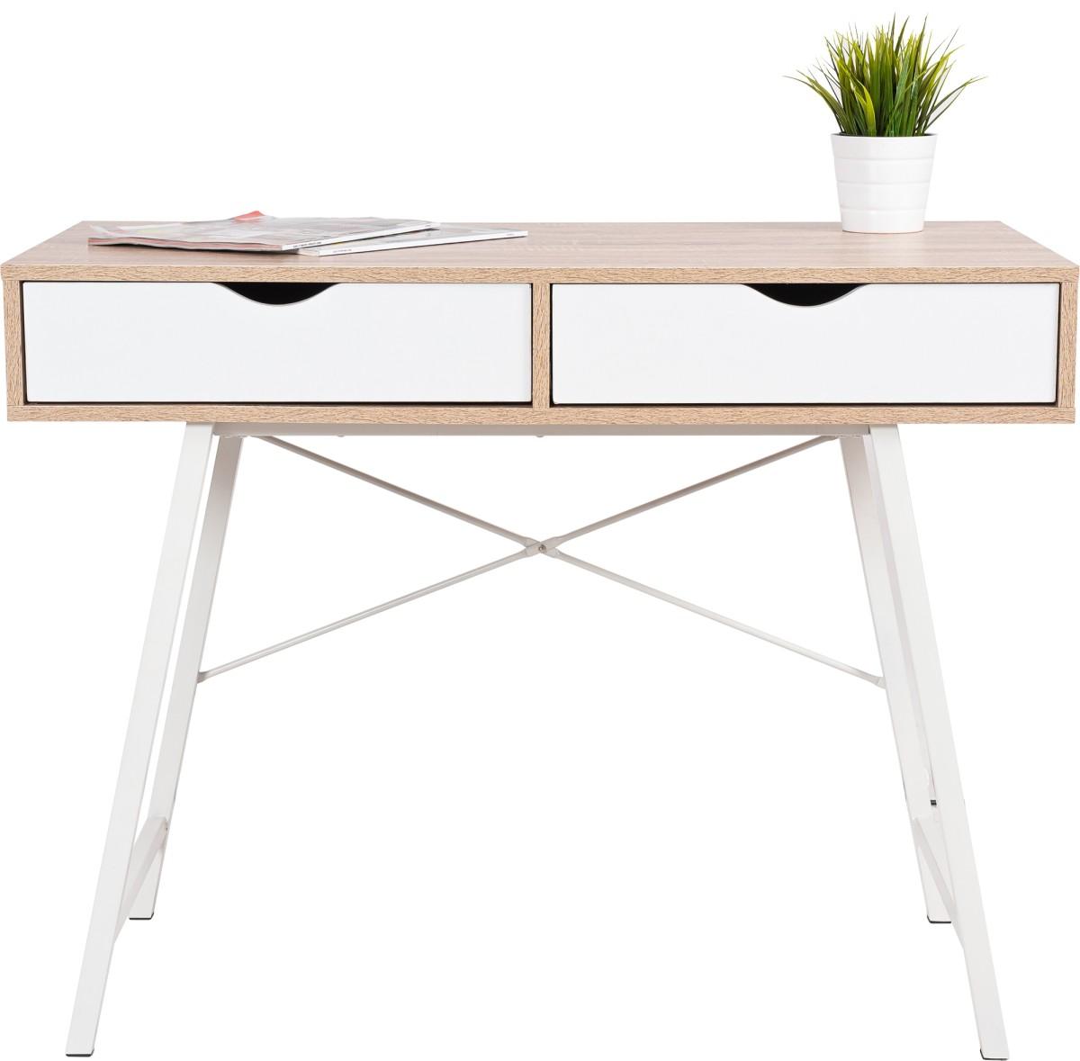 Psací stůl Felix bílý/hnědý