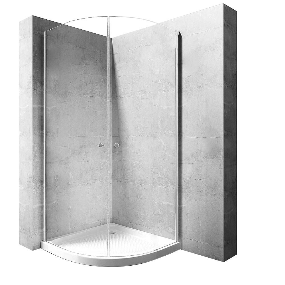 Sprchová kabina Rea Round Space N2 90 transparentní s vaničkou
