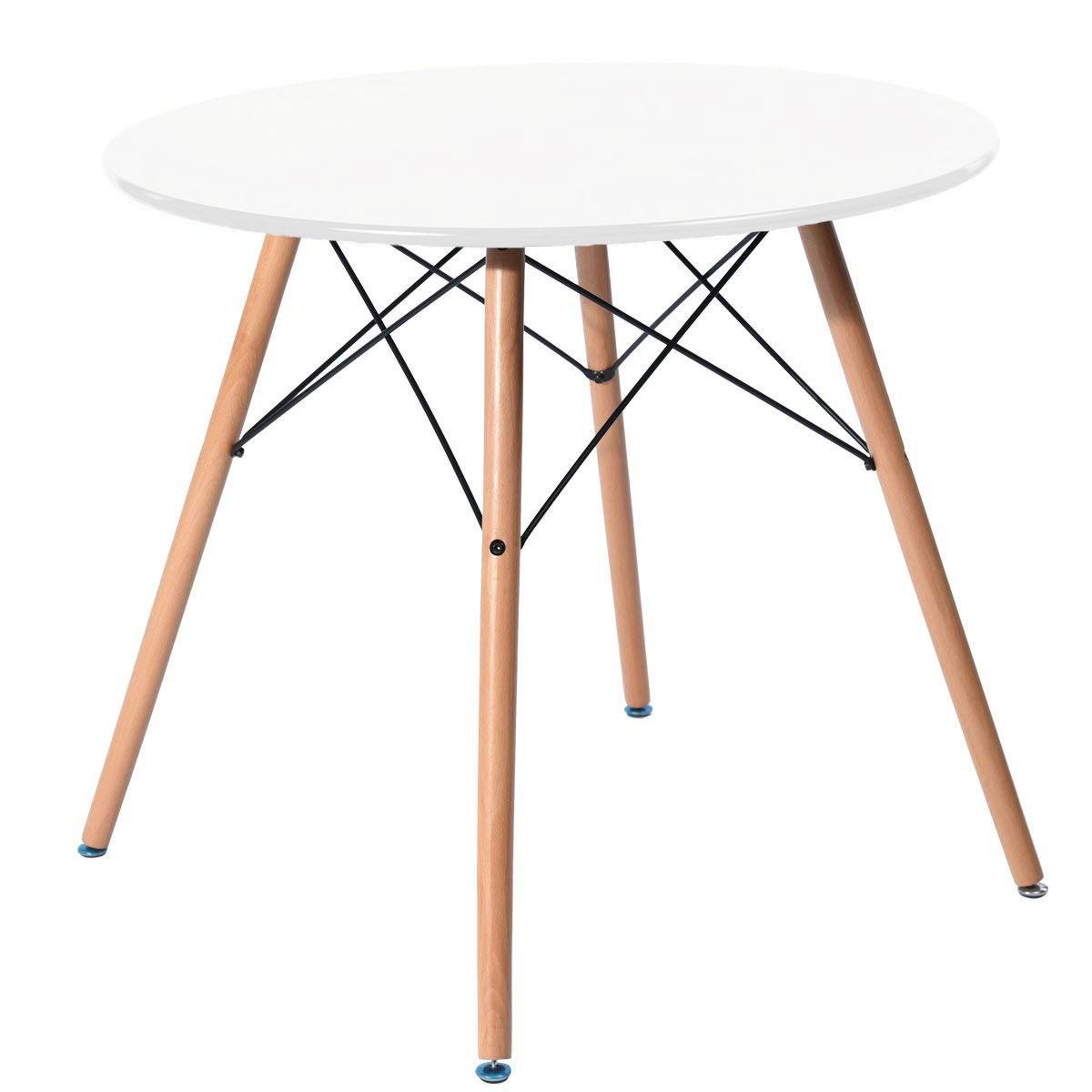 Jedálenský stôl 60 cm biely