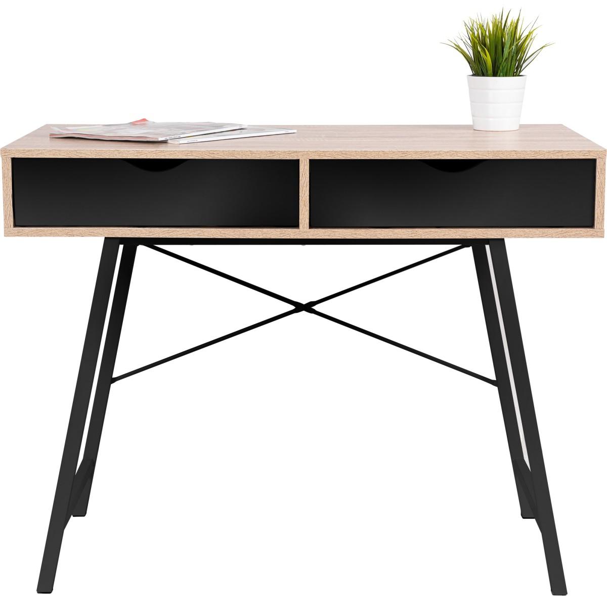 Písací stôl Loft drevo/čierny