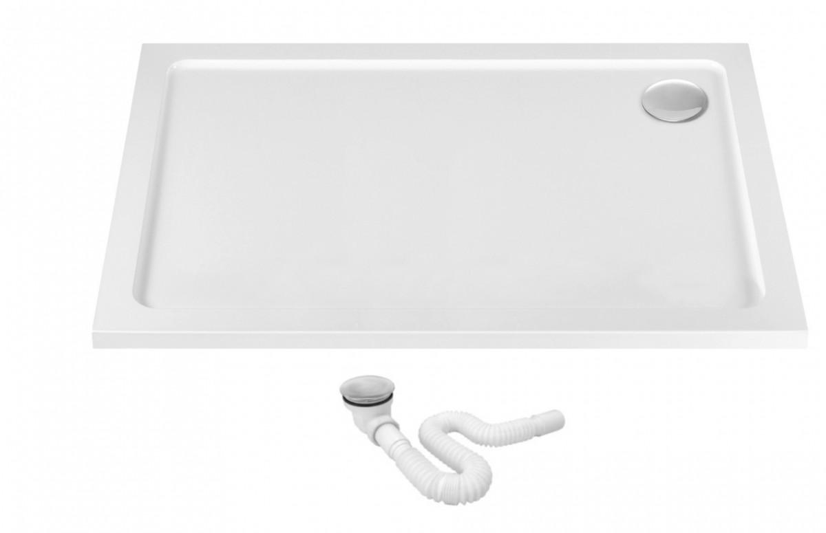 Sprchová vanička REA PORTA 80 × 100 biela