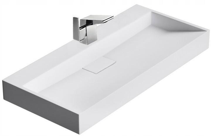 Umývadlo na dosku konglomerátové - biele