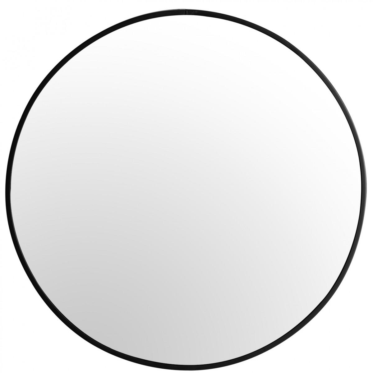 Guľaté zrkadlo Loft SLIM 70 cm čierne