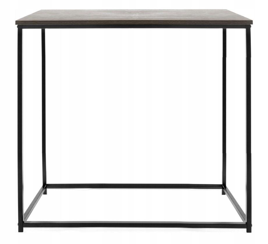 Konzolový stolík 76 × 60 cm KALLIS čierny