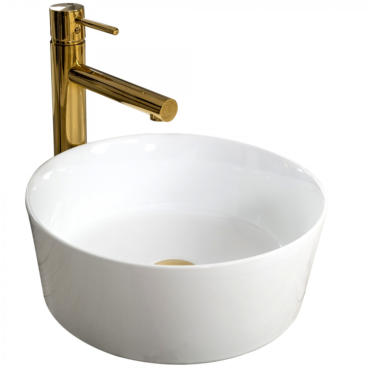 Keramické umývadlo na dosku Rea Ida 36 cm biele