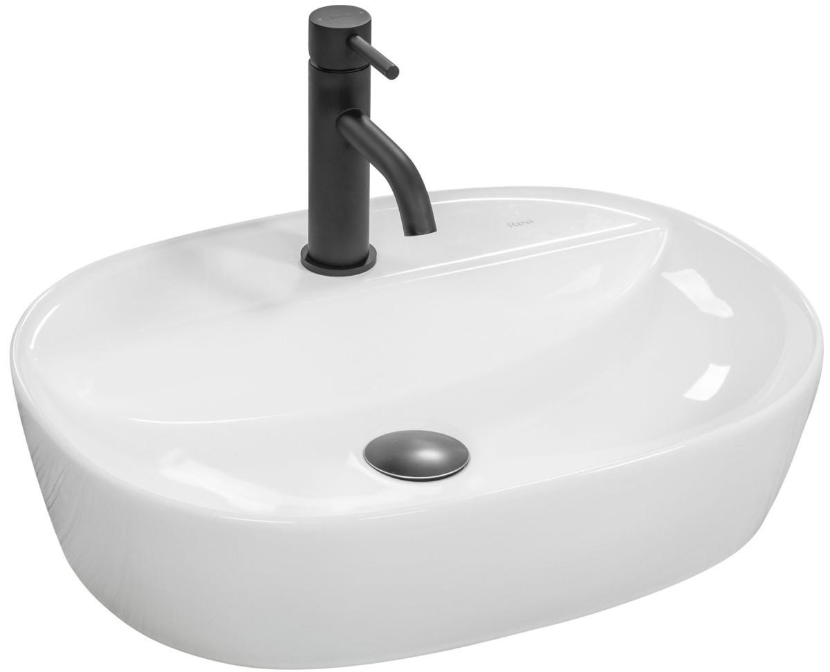 Keramické umývadlo na dosku Rea Carina Sandy biele