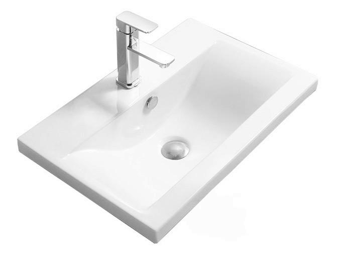 Keramické umyvadlo zápustné Rea Amy 60 bílé