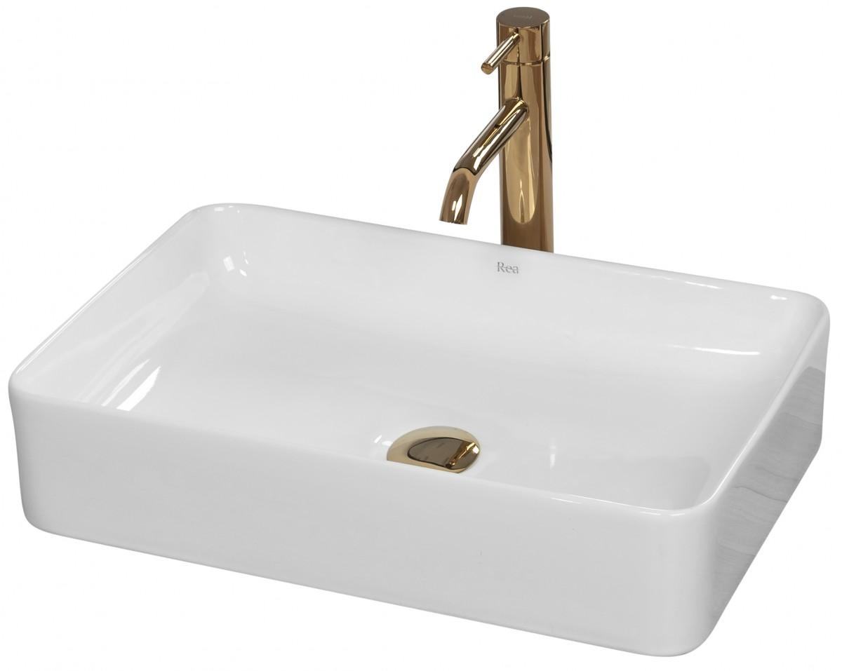 Keramické umyvadlo na desku Rea Avia 51x34 cm bílé