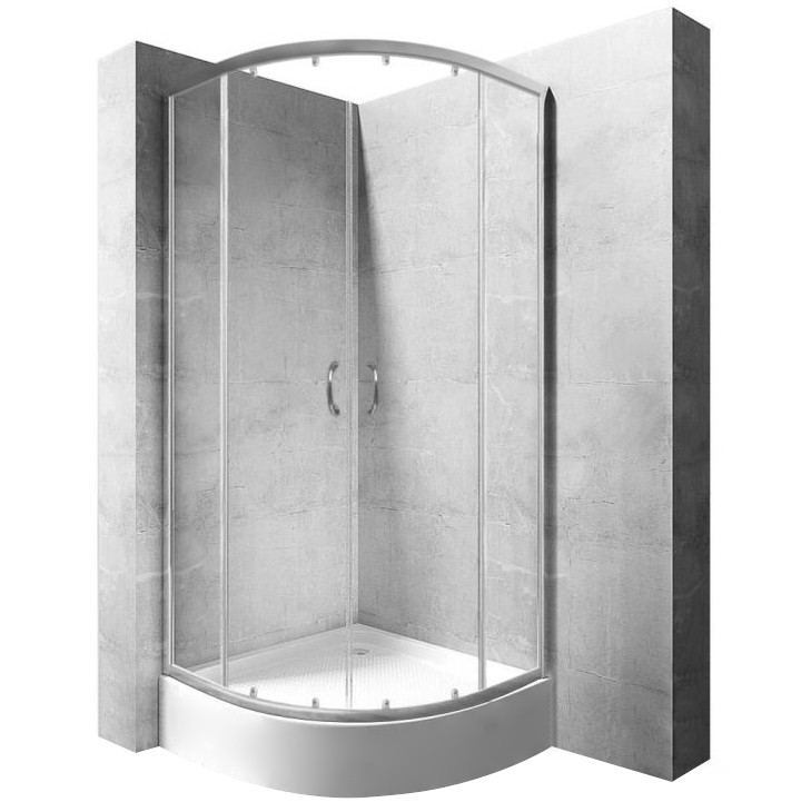 Sprchová kabina Rea Impuls Plus transparentní