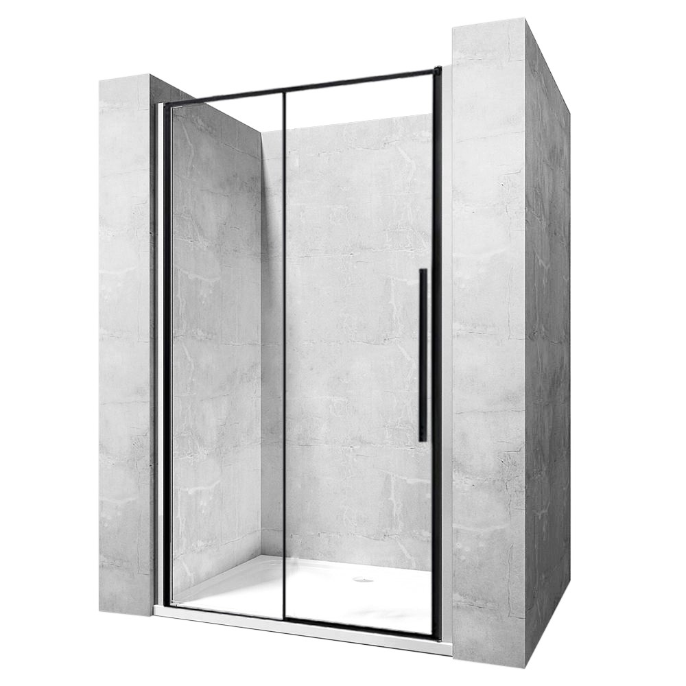 Sprchové dvere SOLAR BLACK MAT 120 cm