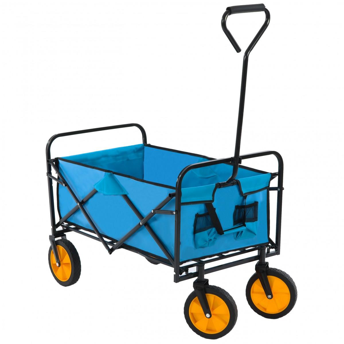 Zahradní vozík skládací BlueGarden modrý