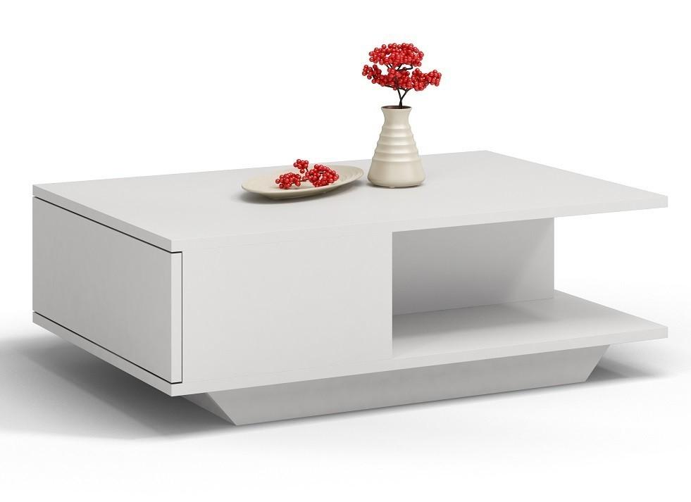 Konferenční stolek Denver bílý matný