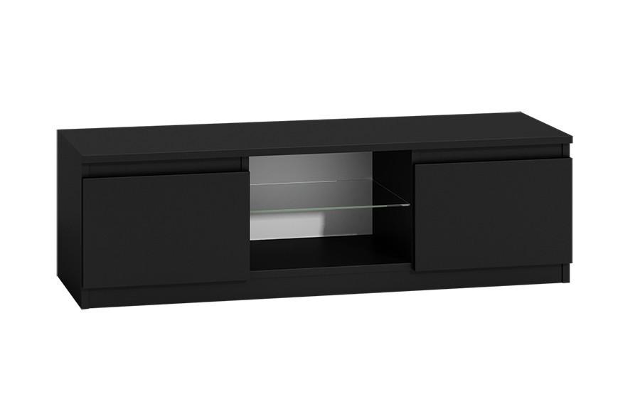 TV stolík KARO RTV 120 čierny, lesklý