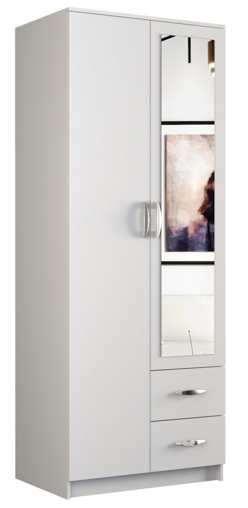 Šatní skříň ROMANA 80cm bílá
