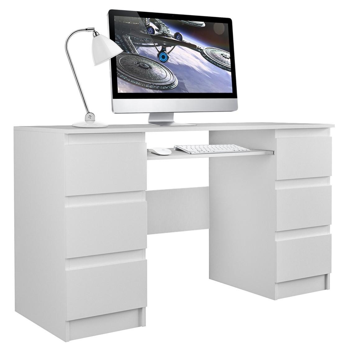 Písací stôl KUBA biely